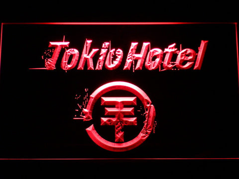 Tokio Hotel LED Neon Sign - Red - SafeSpecial