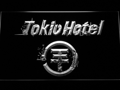 Tokio Hotel LED Neon Sign - White - SafeSpecial