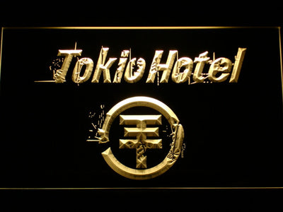 Tokio Hotel LED Neon Sign - Yellow - SafeSpecial