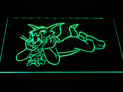 Image of Tom and Jerry LED Neon Sign - Green - SafeSpecial