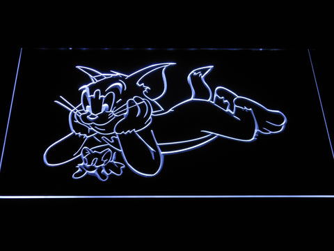 Image of Tom and Jerry LED Neon Sign - White - SafeSpecial