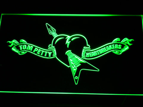 Image of Tom Petty And The Heartbreakers LED Neon Sign - Green - SafeSpecial