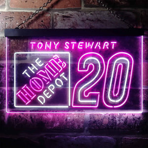 Tony Stewart 20 Neon-Like LED Sign - Dual Color
