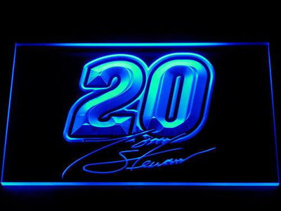 Tony Stewart Signature 20 LED Neon Sign - Blue - SafeSpecial