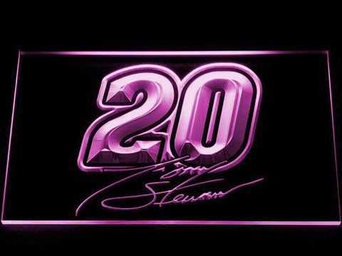 Image of Tony Stewart Signature 20 LED Neon Sign - Purple - SafeSpecial