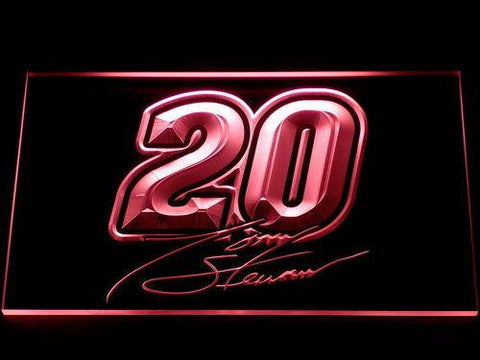 Image of Tony Stewart Signature 20 LED Neon Sign - Red - SafeSpecial