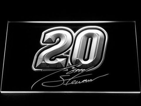 Image of Tony Stewart Signature 20 LED Neon Sign - White - SafeSpecial