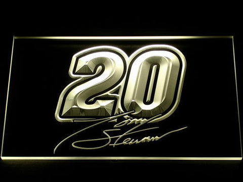 Image of Tony Stewart Signature 20 LED Neon Sign - Yellow - SafeSpecial