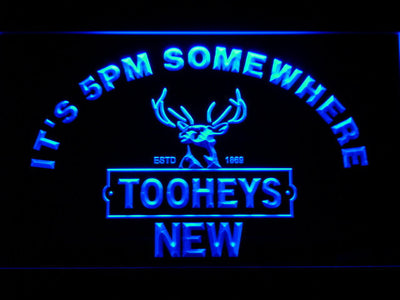 Tooheys It's 5pm Somewhere LED Neon Sign - Blue - SafeSpecial