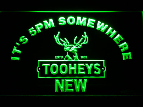 Image of Tooheys It's 5pm Somewhere LED Neon Sign - Green - SafeSpecial