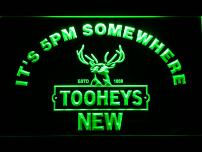 Tooheys It's 5pm Somewhere LED Neon Sign - Green - SafeSpecial