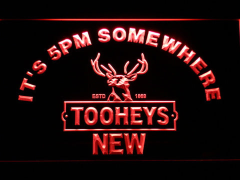 Image of Tooheys It's 5pm Somewhere LED Neon Sign - Red - SafeSpecial