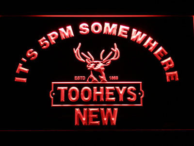 Tooheys It's 5pm Somewhere LED Neon Sign - Red - SafeSpecial
