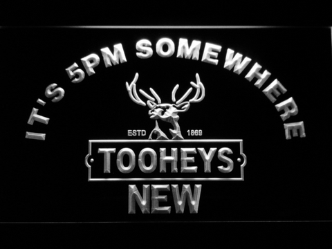 Image of Tooheys It's 5pm Somewhere LED Neon Sign - White - SafeSpecial