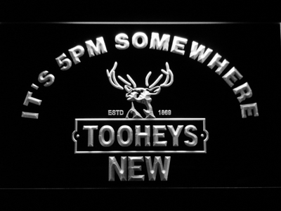 Tooheys It's 5pm Somewhere LED Neon Sign - White - SafeSpecial