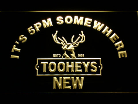Image of Tooheys It's 5pm Somewhere LED Neon Sign - Yellow - SafeSpecial