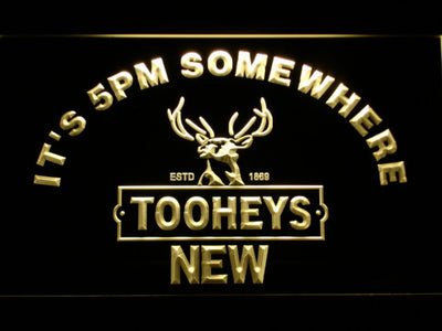 Tooheys It's 5pm Somewhere LED Neon Sign - Yellow - SafeSpecial
