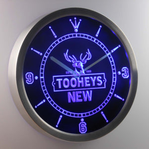 Tooheys New LED Neon Wall Clock - Blue - SafeSpecial