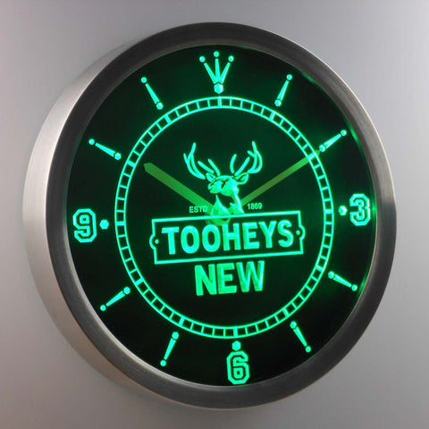 Image of Tooheys New LED Neon Wall Clock - Green - SafeSpecial