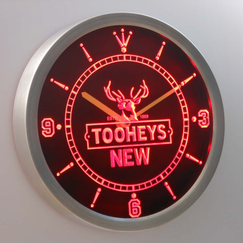 Image of Tooheys New LED Neon Wall Clock - Red - SafeSpecial