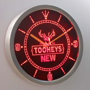 Tooheys New LED Neon Wall Clock - Red - SafeSpecial