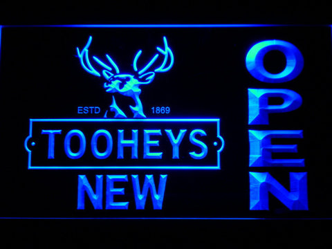Image of Toohey's Open LED Neon Sign - Blue - SafeSpecial