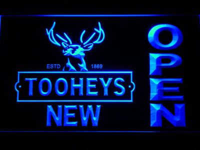Toohey's Open LED Neon Sign - Blue - SafeSpecial