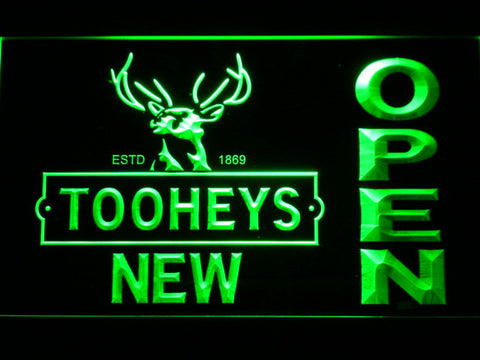 Image of Toohey's Open LED Neon Sign - Green - SafeSpecial