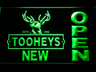 Toohey's Open LED Neon Sign - Green - SafeSpecial