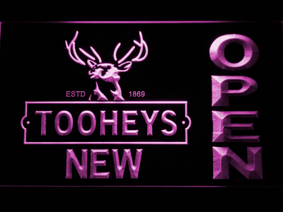 Toohey's Open LED Neon Sign - Purple - SafeSpecial