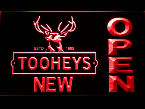 Image of Toohey's Open LED Neon Sign - Red - SafeSpecial