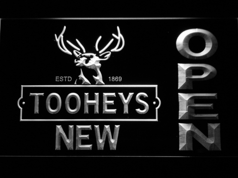 Image of Toohey's Open LED Neon Sign - White - SafeSpecial
