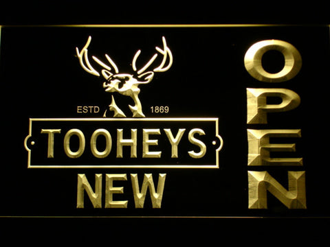 Image of Toohey's Open LED Neon Sign - Yellow - SafeSpecial
