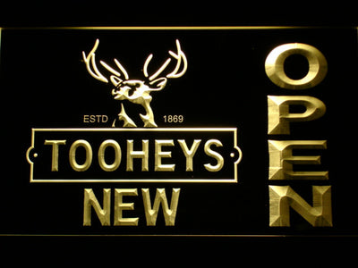Toohey's Open LED Neon Sign - Yellow - SafeSpecial