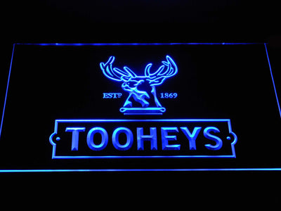 Tooheys Stag LED Neon Sign - Blue - SafeSpecial