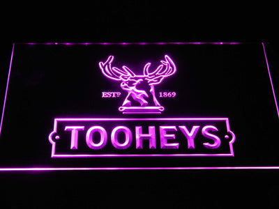 Tooheys Stag LED Neon Sign - Purple - SafeSpecial