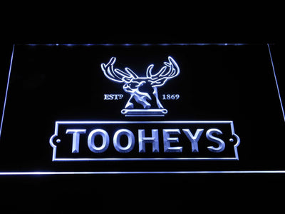 Tooheys Stag LED Neon Sign - White - SafeSpecial