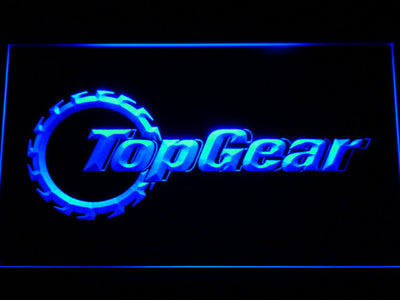 Top Gear LED Neon Sign - Blue - SafeSpecial