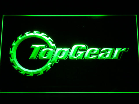 Image of Top Gear LED Neon Sign - Green - SafeSpecial