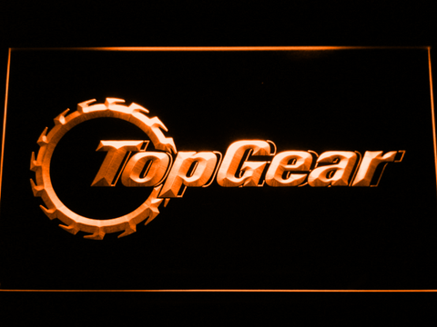 Image of Top Gear LED Neon Sign - Orange - SafeSpecial