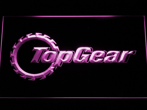 Image of Top Gear LED Neon Sign - Purple - SafeSpecial
