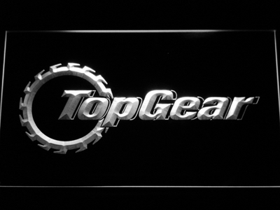 Top Gear LED Neon Sign - White - SafeSpecial