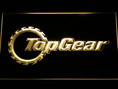 Top Gear LED Neon Sign - Yellow - SafeSpecial