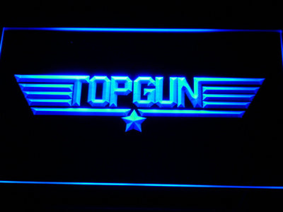 Top Gun LED Neon Sign - Blue - SafeSpecial