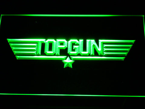 Image of Top Gun LED Neon Sign - Green - SafeSpecial