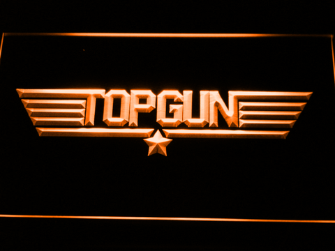 Image of Top Gun LED Neon Sign - Orange - SafeSpecial