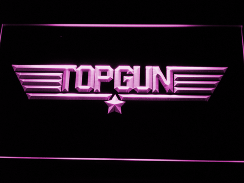 Image of Top Gun LED Neon Sign - Purple - SafeSpecial