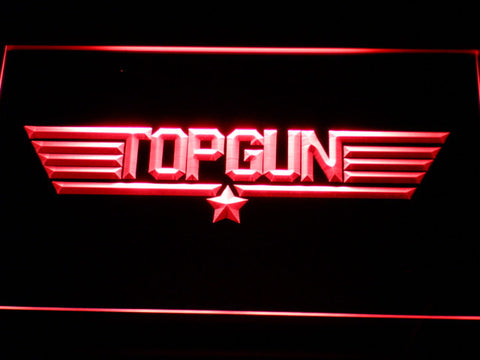 Image of Top Gun LED Neon Sign - Red - SafeSpecial