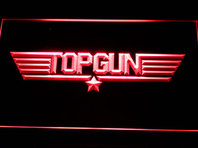 Top Gun LED Neon Sign - Red - SafeSpecial
