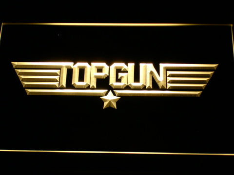 Image of Top Gun LED Neon Sign - Yellow - SafeSpecial